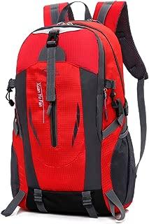 Outdoor Backpack KESENKE Men's Nylon Waterproof Travel Mountaineering Daypacks (Red-2)