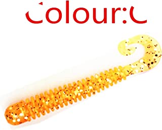 10pcs/lot Silicone Worm Soft Fishing Lure 60mm 1.3g Artificial Rubber Simulation Earthworm baits Flexible Curly Tail Lures