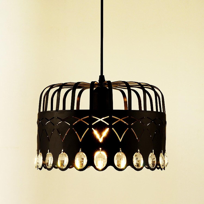 JIAHONG Lustre en cristal moderne simple en fer Craquelé en cristal, HolFaible Shade Cafe Plafonnier à LED décoratif, Restaurant suspendu