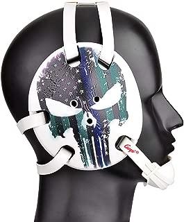Geyi Wrestling Headgear American Flag Thin Blue Line with Digital Printing Art