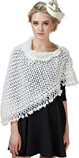 Scarfs for Women Shawls and Wraps Mohair Knit Winter Triangle Scarf