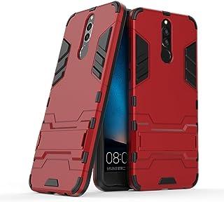 جراب لهاتف Huawei Mate 10 Lite/Nova 2i / Honor 9i (5. 9 بوصات) 2 في 1 مضاد للصدمات مع مسند مزود بطبقة مزدوجة للحماية MJtm1