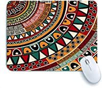 ECOMAOMI 可愛いマウスパッド 部族の民族的背景、抽象芸術 滑り止めゴムバッキングマウスパッドノートブックコンピュータマウスマット