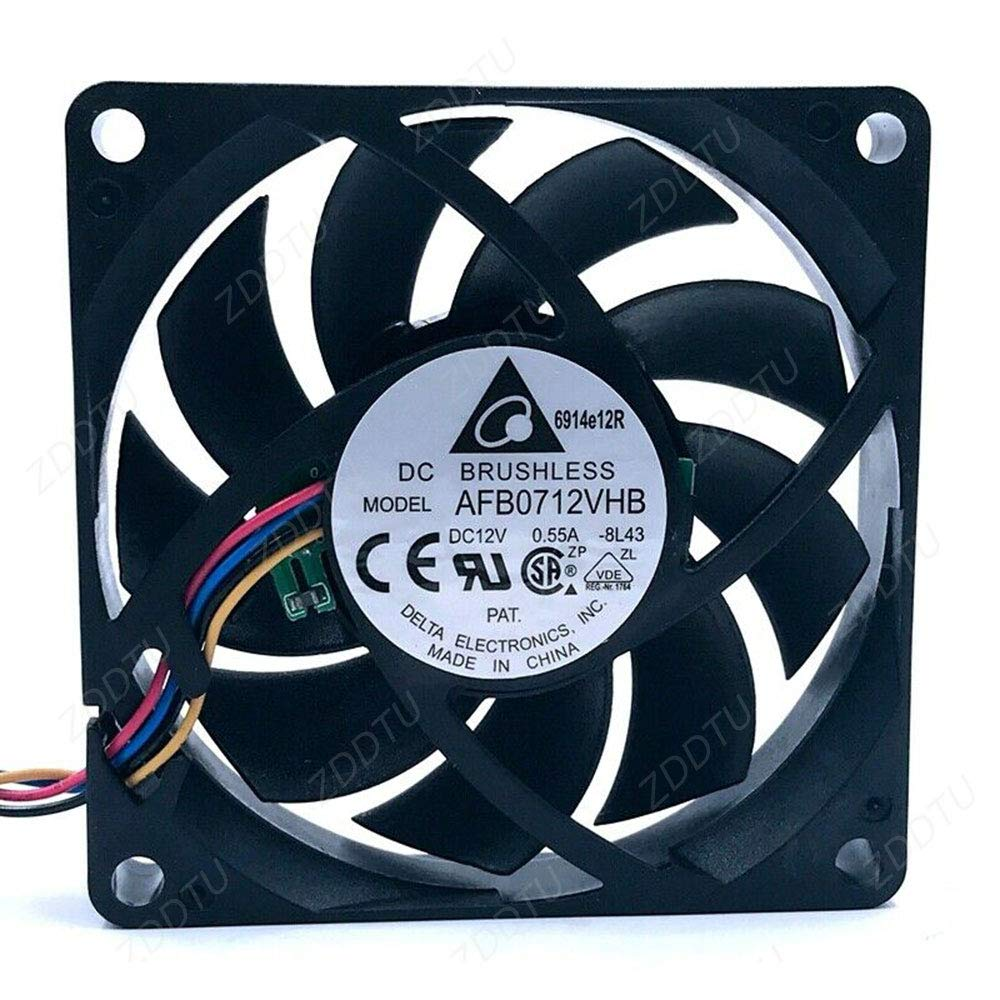 70 DC12V 0.55A PWM cooling fan ZDDTU Compatible for Delta AFB0712VHB 70mm 70