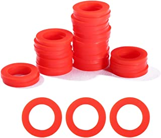 Litorange 30 PCS Outdoor Garden Hose Washer Gasket Combo Pack Red. Made from Soft Silicone (Not Rubber, Better Sealing Than Rubber),Used for Faucets 3/4