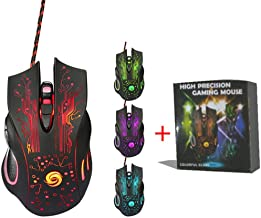 Professional Colorful Backlight 3200DPI Optical Wired Gaming Mouse Mice for PC Laptop Computer Gamer Dropshipping , A