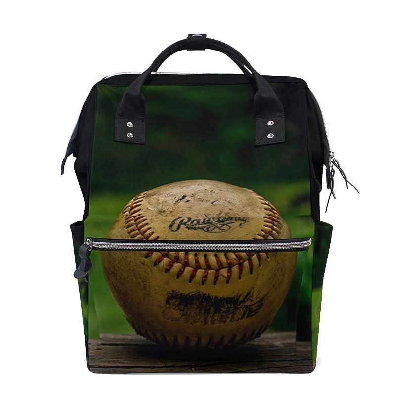 Backpack Vintage Baseball School Rucksack Diaper Bags Travel Shoulder Large Capacity Bookbag for Women Men