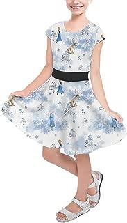 Rainbow Rules Winter Landscape Frozen 2 Disney Inspired Girls Short Sleeve Skater Dress