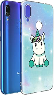 Yoedge Case for Xiaomi Redmi Note 7, Phone Case Transparent Clear with Pattern [Ultra Slim] Shockproof Soft Gel TPU Silicone Back Cover Bumper Skin forXiaomi Redmi Note 7 Smartphone (Unicorn)