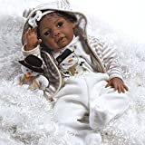 Paradise Galleries Black Reborn Doll with Rooted Hair, 20 inch African American Baby Girl Kione in GentleTouch Vinyl & Weighted Body, 8-Piece Gift Set