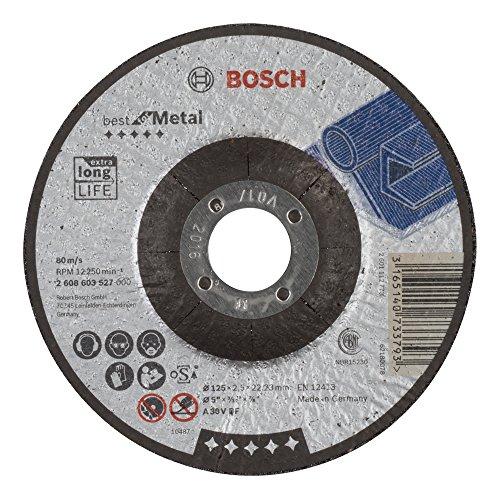 Bosch Professional 2 608 603 527 Trennscheibe Zündkabel Best for Metal A 30V BF, 125 mm, 2.5 mm, 1 Stück
