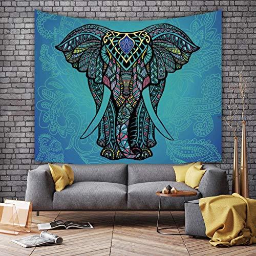 Tapiz Impreso en 3D Tapiz Bohemio patrón de Elefante drapeado ins decoración del hogar Colgante de Pared Toalla de Playa Manta para Sentarse-1.3X1.5m
