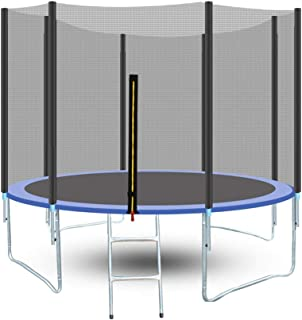 ENKLOV Trampoline, High Quality Kids Outdoor Trampolines Jump Bed With Safety Enclosure Exercise Fitness Equipment (12FT)