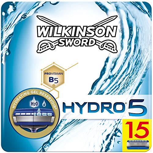 Wilkinson Sword Hydro 5 Rasierklingen für Herren Rasierer briefkastenfähig, 15 Stück