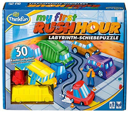ThinkFun 76412 - My first Rush Hour - Das bekannte Stau-Spiel für Kinder ab 3 Jahren, Logikspiel für 1 Spieler, mit Aufgaben für Anfänger und Experten