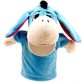 Proumhang Marionetas de Mano Mini muñeca Juguete Peluche Juegos de Animales Bebé Halloween Navidad Día del niño-Burro