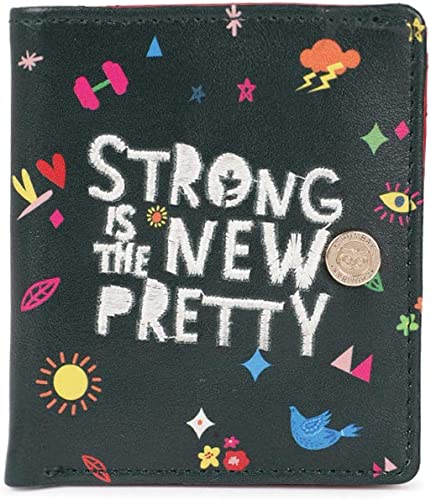 Strong is The New Pretty Olive Square Wallet