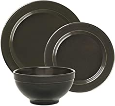 """Emile Henry Made In France Charcoal 3pc Dinnerware Set. Set Includes;1 Each 11"""" Dinner Plate, 8"""" Salad Plate, 6"""" Cereal Bowl"""
