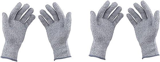 Almencla 2 Pares De Luvas De Açougueiro De Malha De Nylon Elástico Resistente à Facada à Prova De Corte S