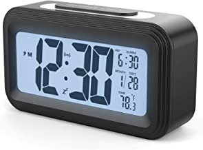 YOMYM Alarm Clock for Home Office Travel (Digital alarm clock)