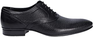 MIRAGE CALZATURE Men's 9209N Black Leather Lace-Up Shoes
