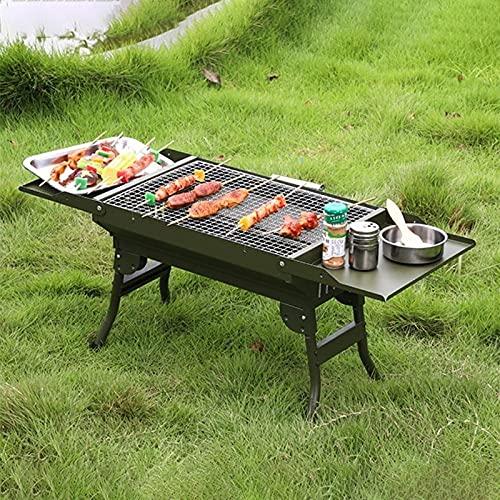 61cUotdctUS. SL500  - WENYOG BBQ Grill Mini-zusammenklappbarer tragbarer Grill-Camping im Freiengrill-Ständer-Klappkohle-BBQ-Grillgitter-Grillzubehör Werkzeuge Faltbarer Grill (Color : Green Grill)
