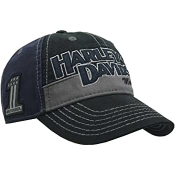 Harley-Davidson Men's Block H-D Name Baseball Cap BC10389 Blue