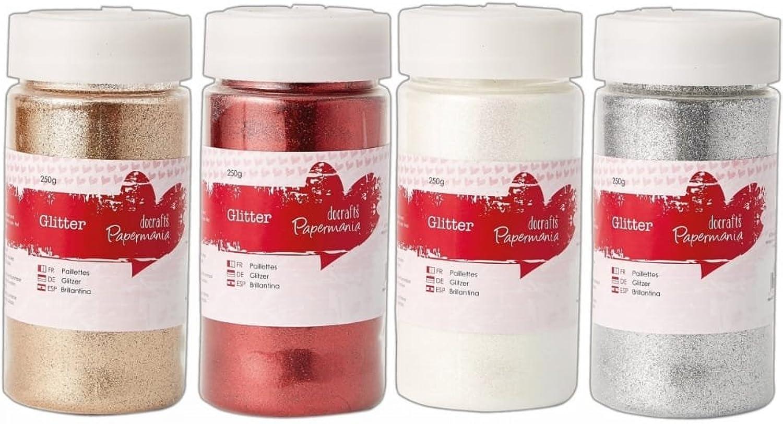 Docrafts 4 Große Feine Glitter Töpfe 250g Weihnachten Bundle B01MSMUNHU | Günstigen Preis