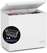 Chest Freezer-7.0 cf Removable Wire Basket Organizer, from 6.8℉ to -4℉ Free Standing Compact Fridge Freezer for Home/Kitch...