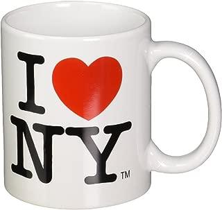 I Love NY Mug - White Ceramic 11 ounce I Love NY Mugs from the New York City Souvenir Store