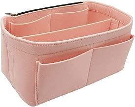 Felt Handbag Insert Organizer Bag In Bag with Big Side Zipper Pocket Fit Speedy Neverfull