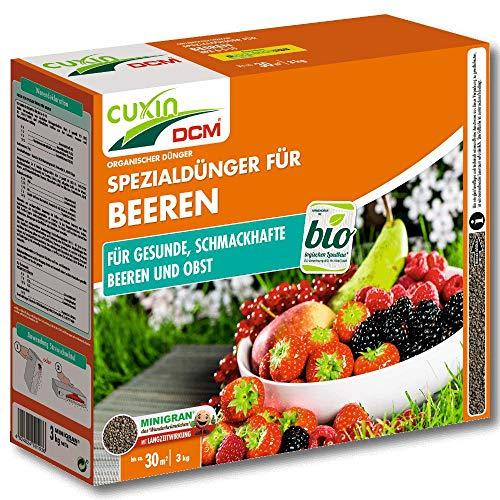 Cuxin Engrais de Baies Engrais Fruits 3 KG D Erdbeerdünger Myrtilles