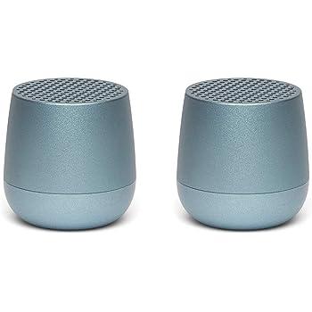 Lexon Twin MINO - Ultra Portable Bluetooth Speaker & Selfie Remote - Rechargable - Light Blue