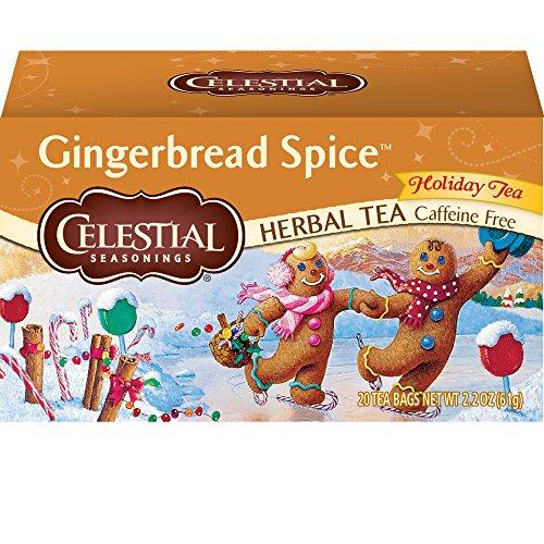Celestial Seasonings Herbal Tea, Gingerbread Spice, 20 Count Box