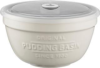 Mason Cash Innovative Kitchen Stoneware Pudding Basin with Lid, 16cm, White 28500