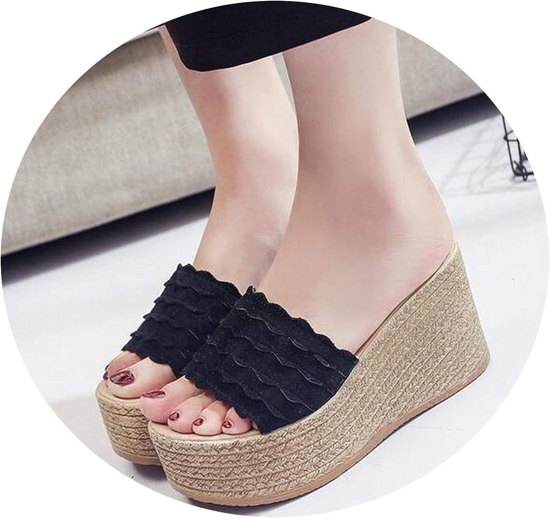 Lewis Pitman Summer Buckle Women Sandals Velvet Flock Fish Mouth high Heel Platform Open Toes Women Sandals shoes