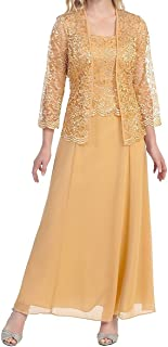 CladiyaDress Women A Line Long Mother of The Bride Dress Evening Gown with Jacket D108LF