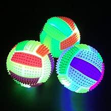 Bluelans Flashing Football Shape LED Light Sound Bouncy Ball Funny Kids Pet Dog Toy Xmas Gifts