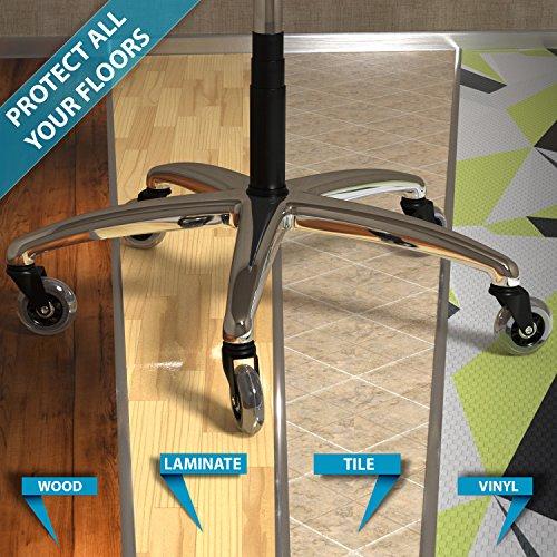 Office chair wheels and vinyl floor