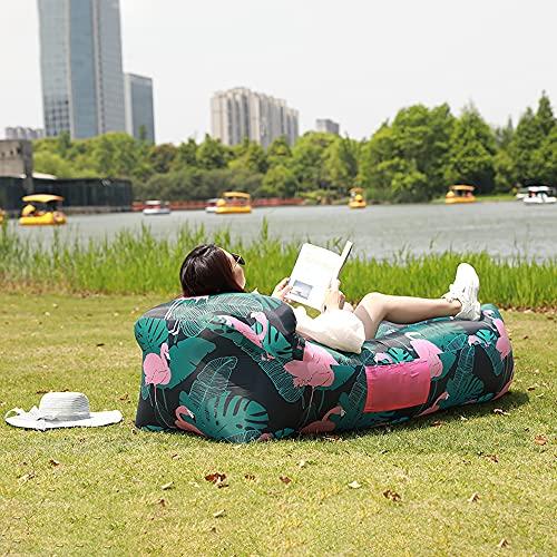 Aufblasbares Sofa Wasserdichtes Luftsofa Couch Sitzsack Air Lounger Outdoor Tragbares Liege Camping Strand Outdoor Park Meer Strand Schwimmbad Reisen Urlaub