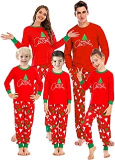 QINQI Family Pajamas Set, Family Matching Christmas Pajamas, Long-Sleeved Home Wear, 2-Piece Suit, Top and Pants