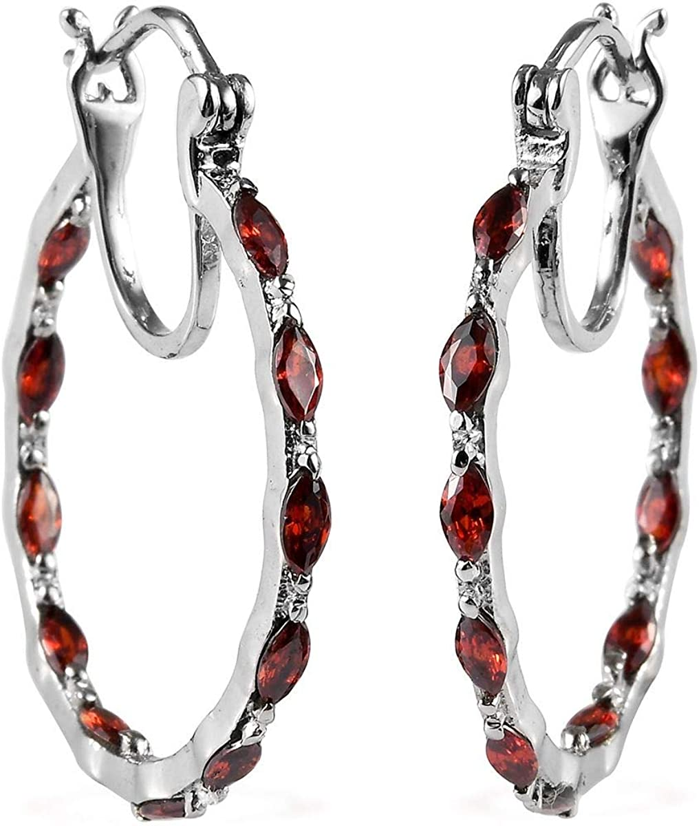 Shop LC Inside Out Hoops, Hoop Earrings for Women Stainless Steel Jewelry Gifts (Multi-Color/Red/Green/Pink/Blue/Purple/Orange)