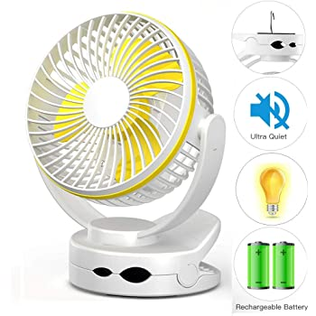 ZQ USB Clip Desk Fan Mini USB Personal Cooling Fan Portable Table Electronic Fan 360/° Rotation for Home Office Dormitory Bedroom etc,Blue