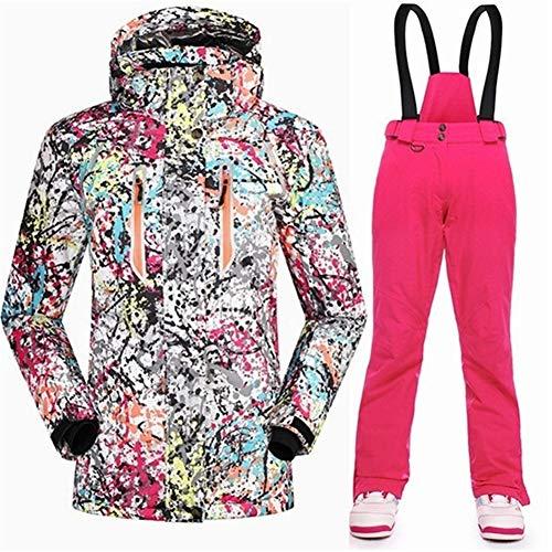Xzwzhqxs Winter Ski Suit Vrouwen Waterdicht 10K Super Warm Snowboard Set Sport Reizen Vrouwen Sneeuw Jas Met Ski Masker Ski Broek L 3