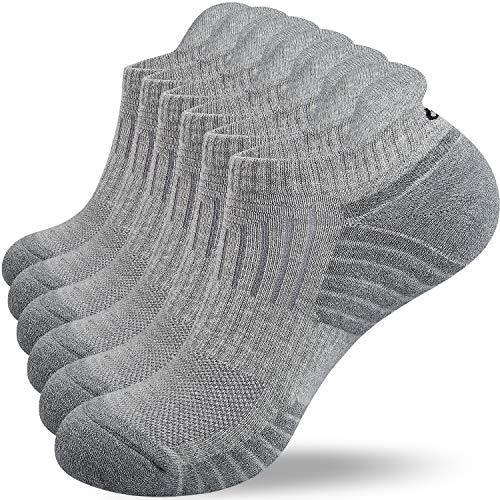coskefy Calcetines Hombre Mujeres Calcetines Deporte Hombre Calcetines Antiampollas Calcetines Cortos Mujer Algodón Transpirable Antideslizante Correr Ciclismo Trabajo (6pares/3 pares)