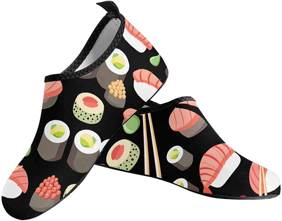 InterestPrint Water Shoes Beach Swim Shoes for Women US6-US12