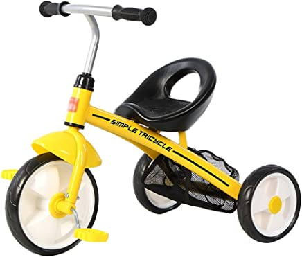 Children's Tricycle 1-3 Year Old Baby boy Baby Toy car, Suitable for Height 90-105cm (Color : Yellow)