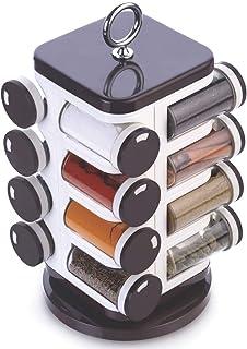 Ganesh Storewel Spice Rack Set, 1.6 Litres/17cm, Set of 16, Maroon