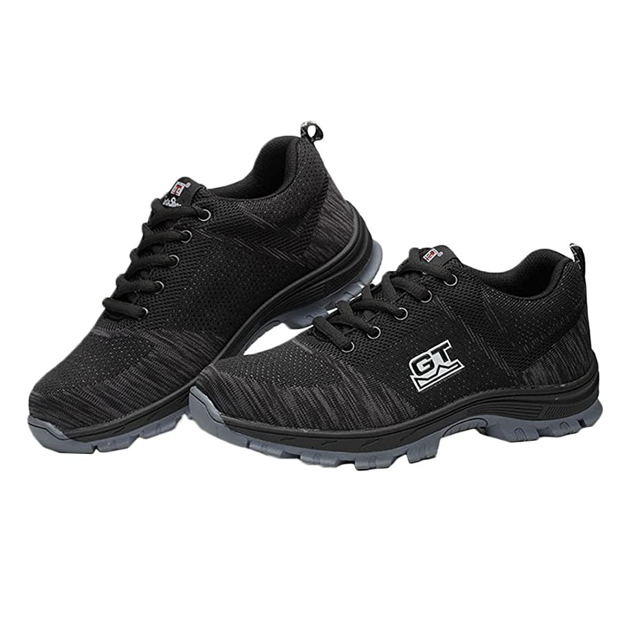 原理敏感ななくなる[ZUOMA] 男女兼用 スニーカー 運動靴 労働保険靴 作業靴 安全靴 テニスシューズ セーフティーシューズ アウトドアシューズ レースアップ 通気 防臭