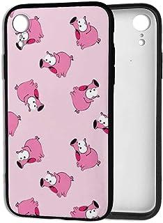 スマホケース IPhone XR ケース おもしろい 豚柄 ブタ 耐衝撃 カメラ保護 衝撃吸収 Qi充電 ワイヤレス充電